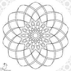 Polar Grid In Degrees With Radius   Mandalas  Zentangle