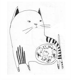 Gato con gatitos