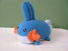OOAK Pokemon Mudkip Loaf Plushie by NovaDogCreations on Etsy