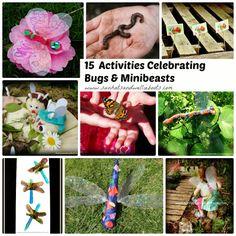 Celebrating Minibeasts & Bugs - 15 Outdoor Activities & Crafts for toddlers & preschoolers