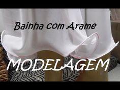 MODELAGEM - Bainha com arame. - YouTube