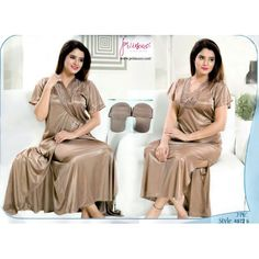 Fashionable Two Part Nighty-4872 B Night Dress Online, Bridesmaid Dresses, Wedding Dresses, Salwar Kameez, Nightwear, Saree, Sexy, Womens Fashion, How To Wear