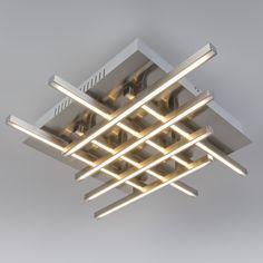 Plafón WEB 8 acero. Lámpara que recuerda al cubismo, de diseño atractivo y moderno. Cuenta con un módulo LED muy potente y de alta eficiencia energética. Le encantará este modelo y le dará la solución que necesitaba para su hogar u oficina.