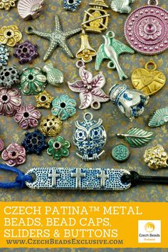 ? ?Czech Patina� Metal Beads, Bead Caps, Sliders & Buttons  Different Colors & Shapes! - Buy now with discount! www.CzechBeadsExclusive.com/+czech+patina  Hurry up - sold out very fast! SAVE them! #czechbeadsexclusive #czechbeads