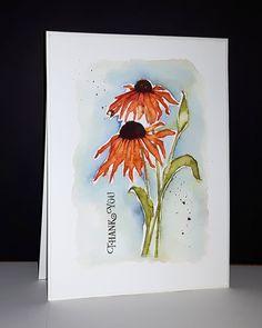 40-546 Dancing daisies et 30-423 de Penny Black par Micheline 'Mim' Jourdain