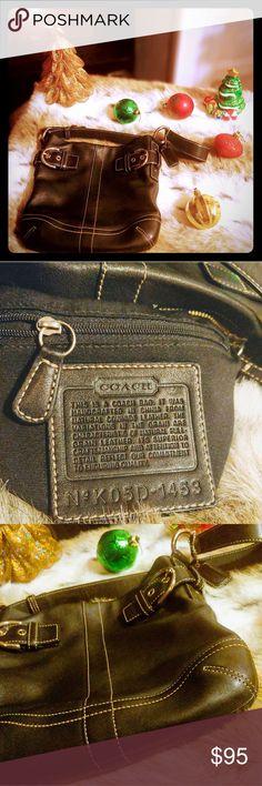 dba6f5880f8a Coach bag - Black, natural cowhide leather Sleek Coach bag, leather..like