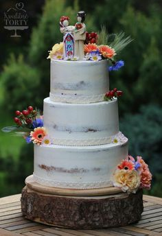 traditional slovak bride and groom wedding cake - Cake by Lucya Wedding Groom, Our Wedding, Dream Wedding, Food Inspiration, Wedding Inspiration, Wedding Ideas, Pistachio Cake, Traditional Wedding, Yummy Cakes