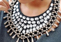 Embellished bib necklaces.