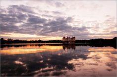 Poster Deutschland - Schloss Moritzburg bei Dresden -  Sonnenuntergang  15 % auf unser gesamtes Sortiment - Code: BLACK - gültig bis zum 30.11.2015