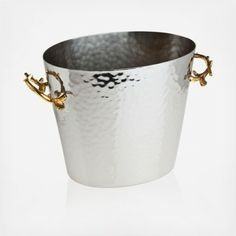 Spruce up your wine bucket with hammered silver and gold.
