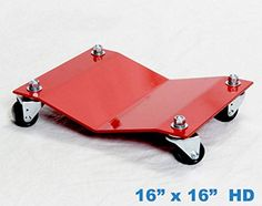 """Heavy Duty Car Dolly Professional Automobile Wheel Skate Shop Garage Premium Easy Roll Automotive & Equipment Movers 2,500# Capacity Each Full Bearing Non-Mar Casters (16""""x16""""). For product info go to:  https://www.caraccessoriesonlinemarket.com/heavy-duty-car-dolly-professional-automobile-wheel-skate-shop-garage-premium-easy-roll-automotive-equipment-movers-2500-capacity-each-full-bearing-non-mar-casters-16x16/"""