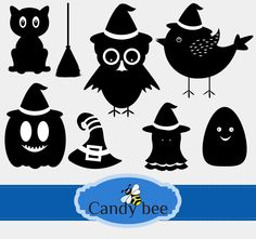 Silhouette Clip Art, Bee Design, Party Banners, Scrapbook Supplies, Buy 1, Vector Design, Handmade Crafts, Happy Halloween, Craft Projects
