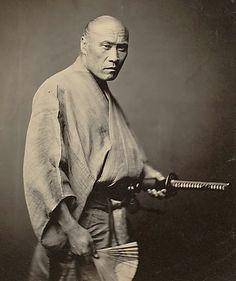 """Samurai, Yokohama,"" 1864 Felice Beato"