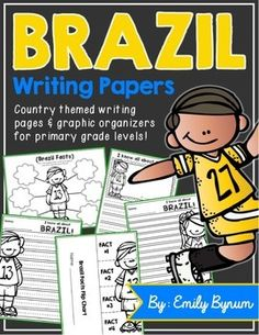 Brazil Writing Pages