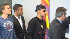 Neymar e elenco do Barça marcam presença no memorial de Cruyff #globoesporte