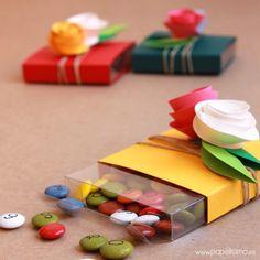 Caja de regalo boda caramelos Wedding candy gift box 2