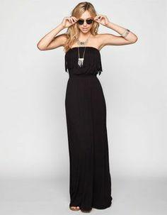 H.I.P. Fringe Top Maxi Dress