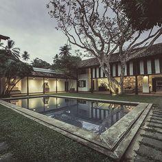 Paradise Road The Villa Bentota Bawa poolside. #paradiseroad srilanka #paradiseroadhotels #boutiquehotels
