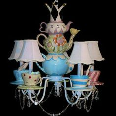 Alice In Wonderland room for my girl! Light Fixture Chandeliers - aBaby.Com
