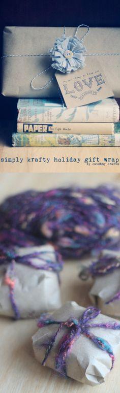 kraftyholidaygiftwrap_pin // Catshy Crafts // catshycrafts.com // holiday packaging