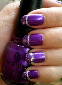 Purple Glitter and Jewels Nail Design - http://www.naildesignsforyou.com/purple-nail-designs/ #nails #naildesigns #nailart #purplenails #purplenaildesigns #purplenailart #cutenails