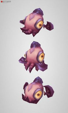 Low Poly Micro Squid Dave