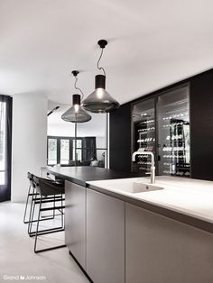 Kitchen and Brokis lights — available at Corifeo Brasschaat — www.corifeo.be