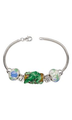 Bracelet with Dione® Large-Hole Beads and Sterling Silver Beads