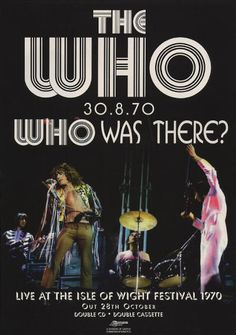The Who Live, Isle Of Wight Festival, The Fool, Photo Credit, Revolution, Ads, Movie Posters, Film Poster, Billboard