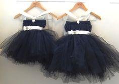Black Flower Girl Dress.... Birthday Tutu Dress.... by LureCouture, $44.50