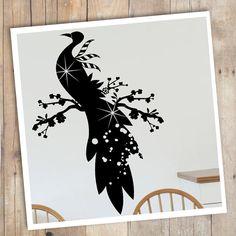 Sticker Paon sur une branche - très poétique et féminin ! #custom #decal #vinyl