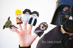 I have been so excited to share with you my latest creation…Star Wars Finger Puppets!! I had so much fun making these and my two boys were eager to fill my head with all sorts of Star Wars Trivia. They helped me to come up with the outfit choices for each character to make sure …