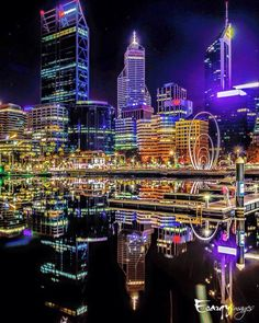 Perth, by night