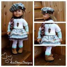 Winter complete  outfit  clothes for 18 inch doll  american girl doll 10 pieces | eBay