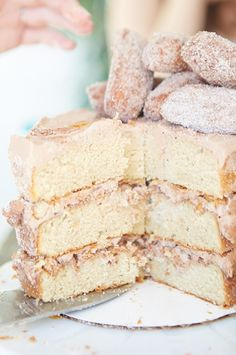 Cinnamon sugar churro cake.