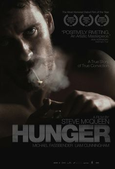 "Hunger - Steve McQueen 2008 -- ""The final months of Bobby Sands, the Irish Republican Army activist who protested his treatment at the hands of British prison guards with a hunger strike, are chronicled in this historical drama."""