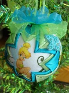 Disney's Tinkerbell Quilted Christmas Ornament by ncgalcreations, $15.00 by delia