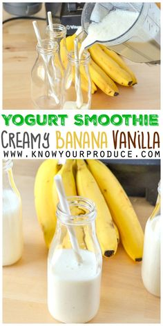 Smoothie with Yogurt Yogurt Smoothie Recipe Creamy Banana Vanilla - Great breakfast addition!Yogurt (disambiguation) Yogurt is a dairy product. Yogurt may also refer to: Banana Yogurt Smoothie, Smoothie Without Yogurt, Smoothie Recipes With Yogurt, Vanilla Smoothie, Raspberry Smoothie, Healthy Breakfast Smoothies, Yogurt Recipes, Smoothie Drinks, Fruit Smoothies