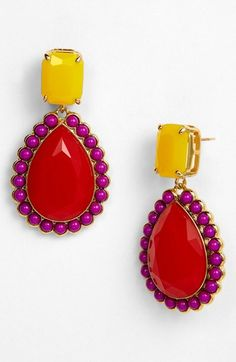 kate spade new york 'run around' framed stone earrings available at #Nordstrom