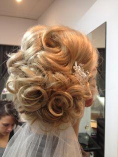 Wedding upstyle / wedding hair by AmberDavis