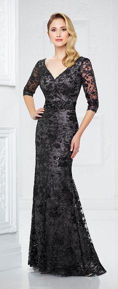vestido para mamá de los novios en color negro