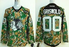 Blackhawks  00 Clark Griswold Camo Veterans Day Practice Stitched NHL Jersey ada280c8b