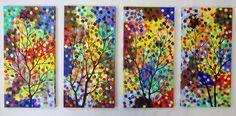ART vente 48 grand fantasme abstrait arbre par jmichaelpaintings