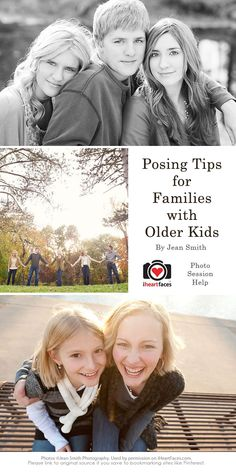 Posing Tips for Families with Older Kids by Jean Smith Photography for iHeartFaces.com