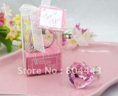 Wedding ring keychain pink