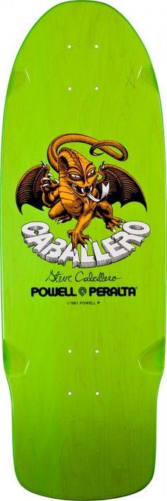 Powell Peralta Steve Caballero Dragon Green Skateboard Deck