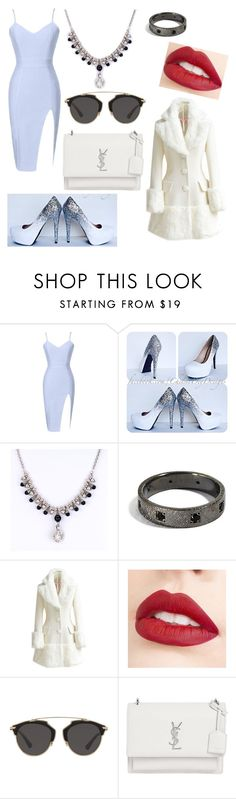 """""""Untitled #181"""" by lilicabsilveira-1 on Polyvore featuring WithChic, Jouer, Christian Dior and Yves Saint Laurent"""