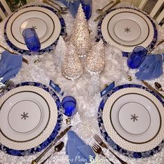 Smashing Plates Tablescapes: Feelin' Frosty