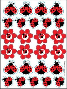 ladybug fancy sticker sheets [set of 4] Case of 20