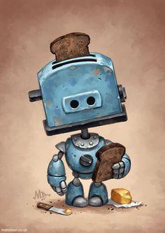 Homepage for illustrator Matt Dixon. Creator of the Transmissions series of robot artwork. Arte Robot, Robot Art, Character Concept, Character Art, Character Design, Robots Characters, Fantasy Characters, Arte Cyberpunk, Cool Robots